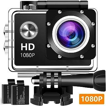 Tsvshe 1080P Full HD Waterproof Underwater Sport Camera