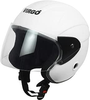 Virgo No 1 Trekfinger Matt Finish Visor Color Clear Helmet (White)