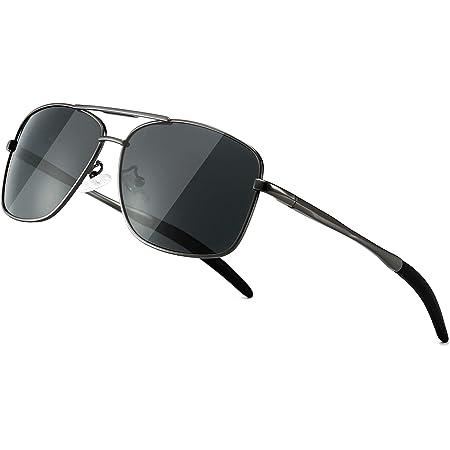 SUNGAIT Polarized Mens Sunglasses Durable Metal Frame for Fishing Driving Golf