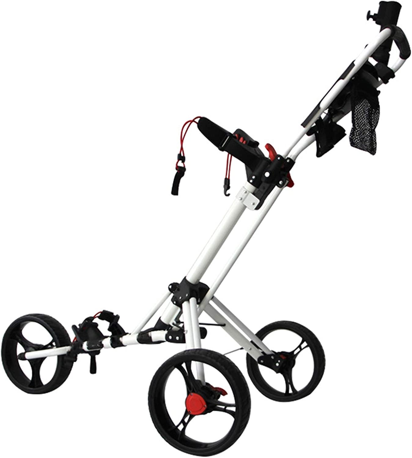 Spring new work one Today's only after another Golf Push Cart 3 Wheels Folding Lightweight Club Pull
