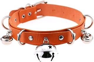 FM FM42 Multicolor PU Simulated Leather 4cm Large Bell Rivets Neckband Choker Necklace (16 Colors)