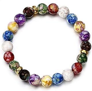 Beiswe Solar System Bracelet for Women Girls Nine Planets Natural Stone Beaded Bracelet Jewelry Gift