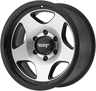 American Racing AR923 15x8 Black Machined Wheel / Rim 5x5.5 with a -19mm Offset and a 108.00 Hub Bore. Partnumber AR92358055519N