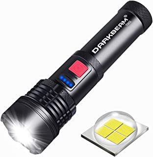 Rechargeable Tactical Flashlight,XHP50 LED Flashlight 3000 Lumen,5 Modes,Zoomable,Waterproof,USB Rechargeable,Handheld Fla...