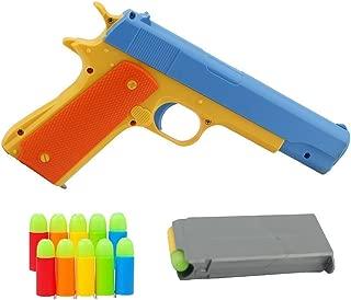 Pinovk 1Pcs Toy Gun Realistic 1:1 Scale Colt 1911 Rubber Bullet Pistol