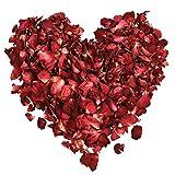 Hestya 100 Gramos de Pétalos de Rosa Secos Pétalos de Flor Real para Baño Pies Boda Confeti Accesorios de Manualidades, 1 Bolsa
