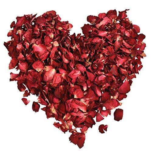 100 Grams Dried Rose Petals Red Real Flower Rose Petal for Bath...