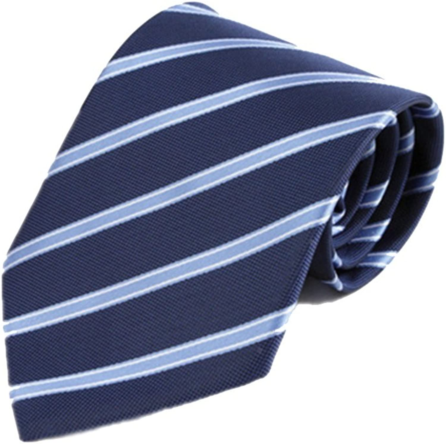Men's Tie Fine Suit Business Tie Casual Tie Polyester Necktie blueee Wide Striped Tie