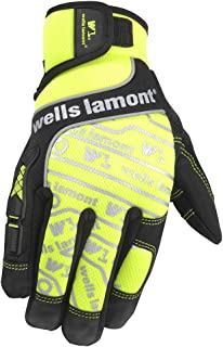 Wells Lamont High Visibility Synthetic Leather Work Gloves, Large (7674L)
