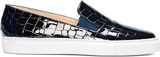 Beatriz - Zapatillas Sneakers Slip On de Vestir para Mujer en Piel - Planos Suela Gruesa - Cierre Elásticos - Moda Tendencia Sport Casual - -
