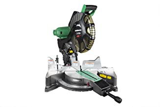 Metabo HPT 12-Inch Compound Miter Saw, Laser Marker System, Double Bevel, 15-Amp Motor, Tall Pivoting Aluminum Fence, 5 Ye...