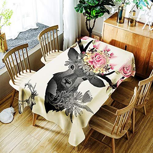 Brandless Mantel Impreso Digital Rectangular Impermeable Mantel Tela de poliéster Cocina Comedor Interior Al Aire Libre Buffet Decoración de Mesa