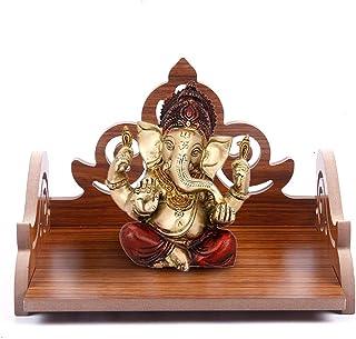 pranali enterprise Wooden Art and Craft Beautiful Plywood Pooja Mandir (Brown , Small)