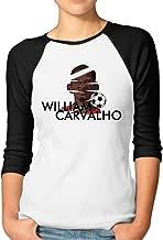 YFF Women's Football Superstar William Unique 3/4-Sleeve Raglan Tshirt