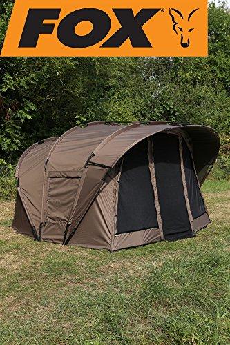 Fox Retreat+ Ripstop Ventec 2-man - Angelzelt zum Karpfenangeln, Karpfenzelt, Anglerzelt, 2-Mann-Zelt, Zelt für 2 Personen zum Nachtangeln