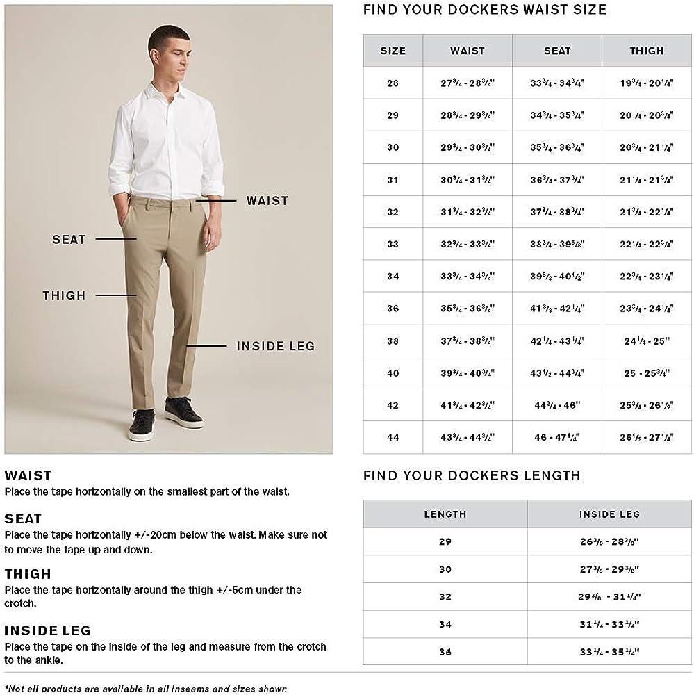 Dockers Men's Slim Fit Signature Khaki Lux Cotton Stretch Pants