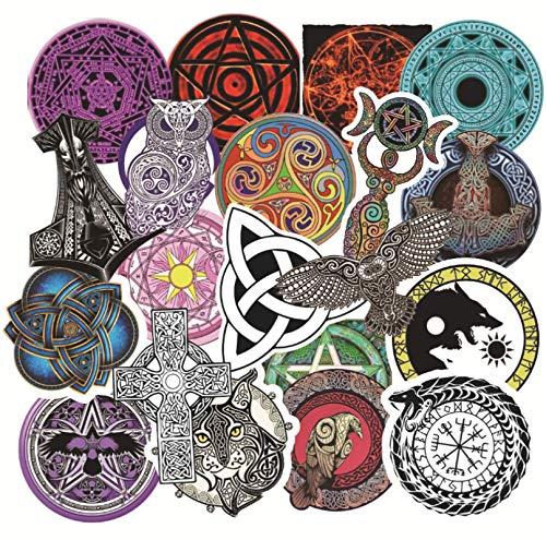 BAIMENG Pegatinas de Vikingos para portátil, Equipaje, monopatín, Bicicleta, Nevera, Bonito Juego de Pegatinas de Dibujos Animados, 50 Uds.