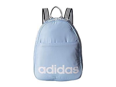 adidas Core Mini Backpack (Glow Blue/White/Black) Backpack Bags