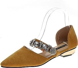 Youpin Mary Jane Chaussures de danse à talon bas et bout pointu pour femme