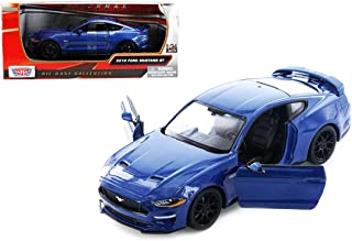 2018 Ford Mustang GT 5.0 Blue with Black Wheels 1/24 Diecast Model Car by Motormax 79352