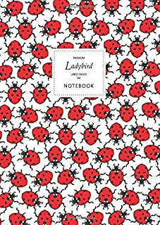 Ladybird Notebook - Lined Pages - A4 - Premium: (White Edition) Fun notebook 192 lined pages (A4 / 8.27x11.69 inches / 21x...