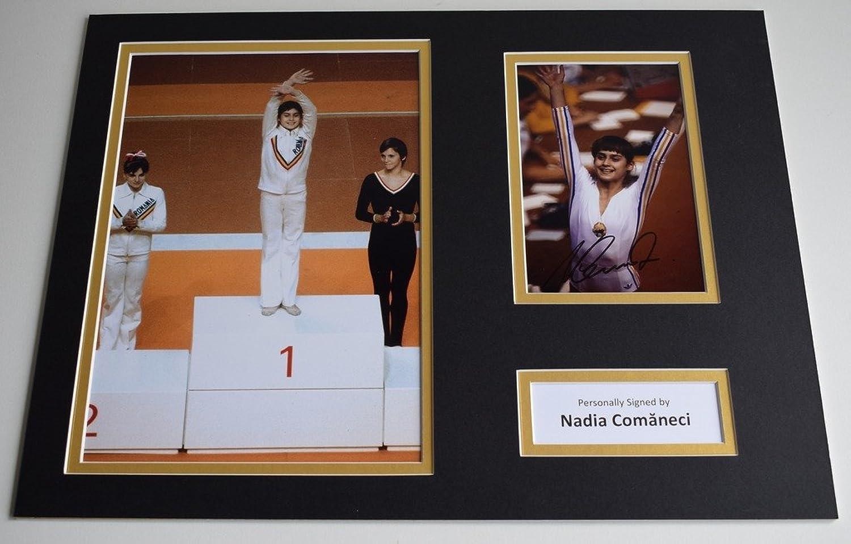 Sportagraphs Nadia Comaneci SIGNED autograph 16x12 photo display Olympics 1976 AFTAL & COA PERFECT GIFT