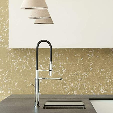 RoomMates RMK11381WP Metallic Gold Leaf Peel and Stick Wallpaper