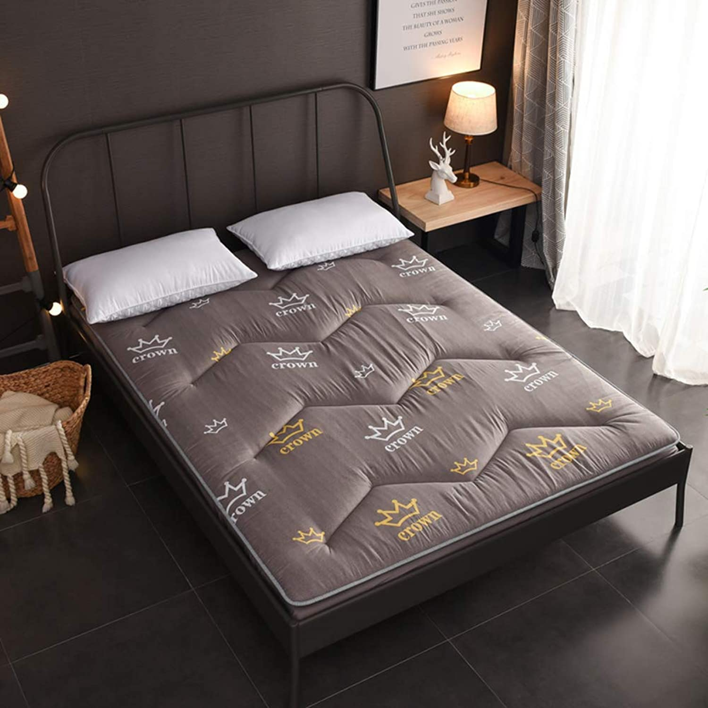Fluffy Breathable Mattress, Japanese Tatami futon, Antibacterial Anti-mite Comfortable Double Sleeping pad Mattress Topper-C 90x200x5cm(35x79x2inch)