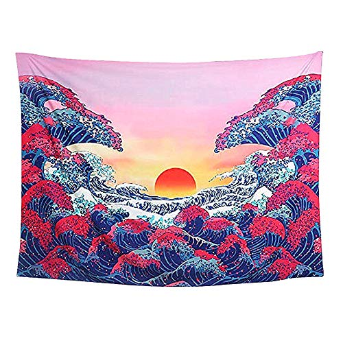 LYsng Tapiz Tapestry Tapiz Pared Grande Tapiz Pared Suave Tapiz Pared Decoracion Fular Playa Grande para Bufanda Manta Mantel Cortina De Ventana Camas 200 * 148