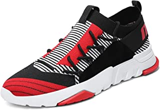No.66 TOWN Men's Lace-up Sports Jogging Flyknit Running Shoes Sneakers