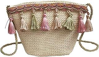 Wultia - 2018 Maison Fabre Vintage Women Weaving Tassel Shoulder Bag Messenger Bag Crossbody Bag Beach Bag #M Khaki