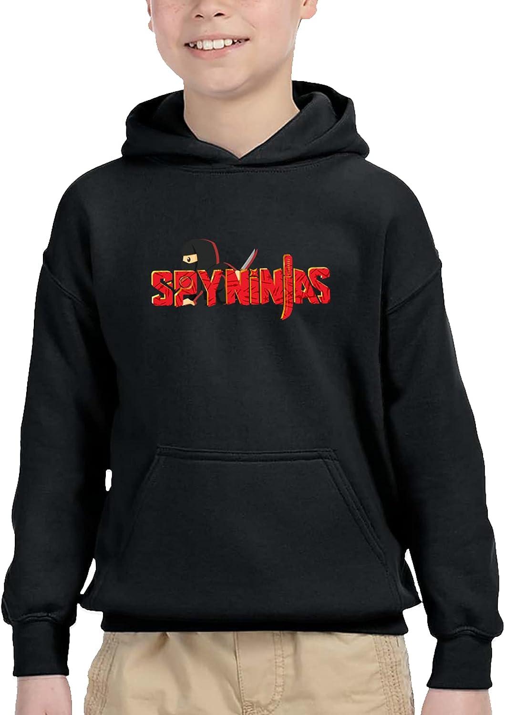Red C-W-C Spy Ninjas Children'S Hooded Pocket Fashion Sweatshirts Long Sleeves Pullover Hoodies Black