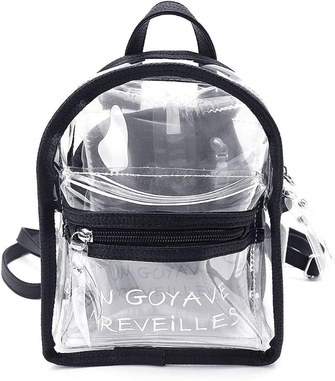 Transparent Jelly Small Backpacks Mini Letter Pack Back Black