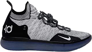 official photos 2688e f0052 Nike Men s KD 11 Black White Racer Blue Bright Crimson Knit Basketball Shoes