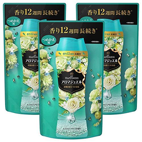 スマートマットライト レノア ハピネス 香り付け専用ビーズ アロマジュエル エメラルドブリーズの香り 詰め替え 455mL×3袋