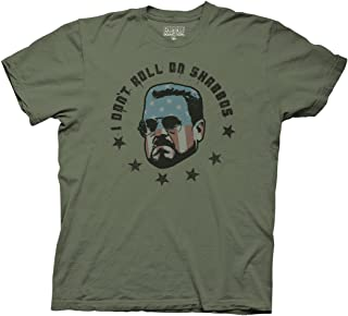 Big Lebowski Adult Unisex Roll on Shabbas Heavy Weight 100% Cotton Crew T-Shirt