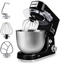 Stand Mixer, Cusimax 800W Dough Mixer Tilt-Head Electric Mixer with 5-Quart Stainless Steel Bowl, Dough Hook, Mixing Beate...