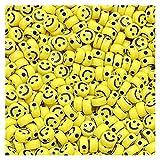TFGUOqun Cuentas Sueltas, 300 unids/Lote 7 mm Forma óvalo acrílico Perlas espaciadas Sonrisa Cara de Roya para joyería Haciendo Bricolaje encantos Pulsera collac para Hacer Joyas DIY (Color : I)