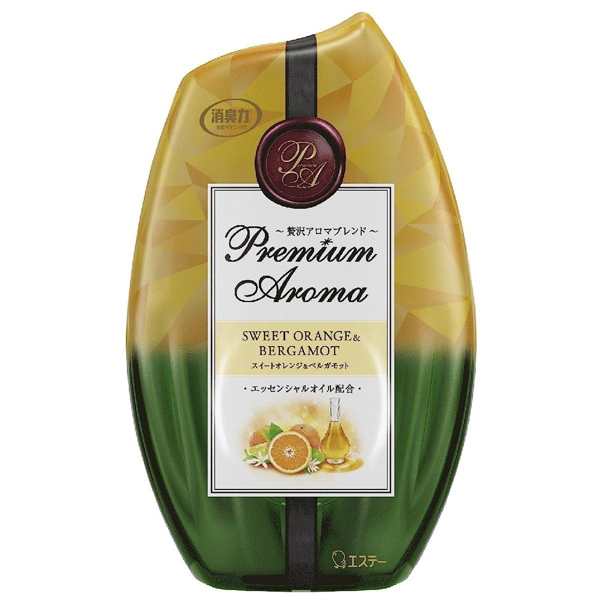 段階論理続編お部屋の消臭力 プレミアムアロマ Premium Aroma 消臭芳香剤 部屋用 部屋 スイートオレンジ&ベルガモットの香り 400ml