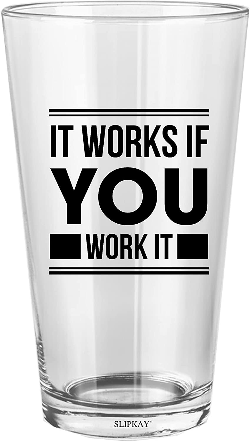 It Works If You Work Aa Recovery Oz Pint Glass Columbus Mall Excellent 16