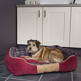 Scruffs Dog Highland Box Bed, Medium, Red