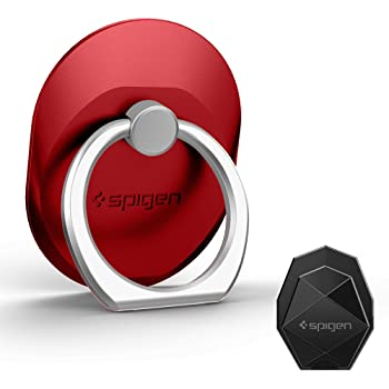 Spigen Style Ring Cell Phone Ring Phone Grip | Stand | Holder for All Phones and Tablets - Red