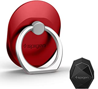 Spigen Style Ring Cell Phone Ring Phone Grip/Stand/Holder for All Phones and Tablets - Red