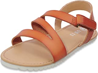 MIXIN Little/Big Kid Girls Flat Sandals Open Toe Strap Sandals for Kids with Ankle Strap