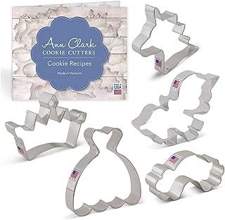 Ann Clark Cookie Cutters 5-Piece Fairytale Princess/Unicorn Cookie Cutter Set with Recipe Booklet, Princess Crown, Dress, Cute Unicorn, Unicorn Head and Rainbow