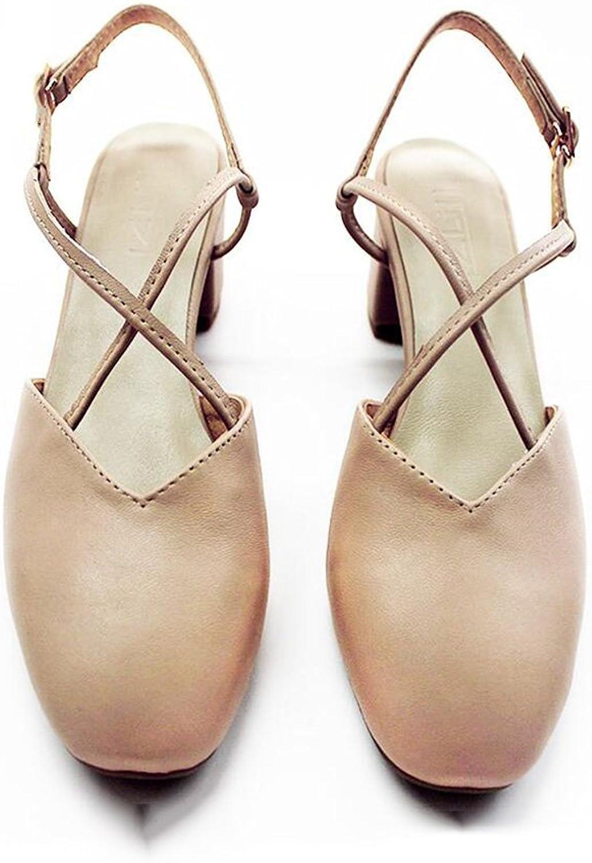 CJC Sandals Closed Toe Mocassins Single Sole Design (color   2, Size   EU39 UK6.5)