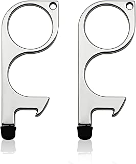 Baswlth 2 Pack No Touch Door Opener Tool,Touch Free Safe Door Opening Keychain Tool,Stylus Multi-function Key Tool for Han...