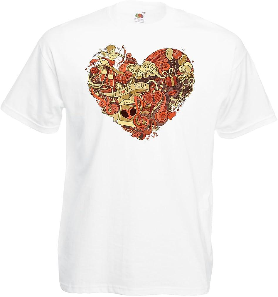 lepni.me Camisetas Hombre Corazón y símbolos de Amor ...