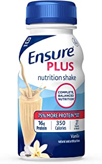 Best Ensure Plus Nutrition Shake with 13 grams of high-quality protein, Meal Replacement Shakes, Vanilla, 8 fl oz, 24 count Review