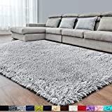 Light Grey Super Soft Area Rug for Bedroom,8x10,Fluffy Rugs,Big Rug,Furry Rugs for Living Room,Plush Rugs for Girls Boys Room,Shaggy Rug for Kids Baby Room,Fuzzy Rugs for Nursery Dorm,Non-Slip Rug